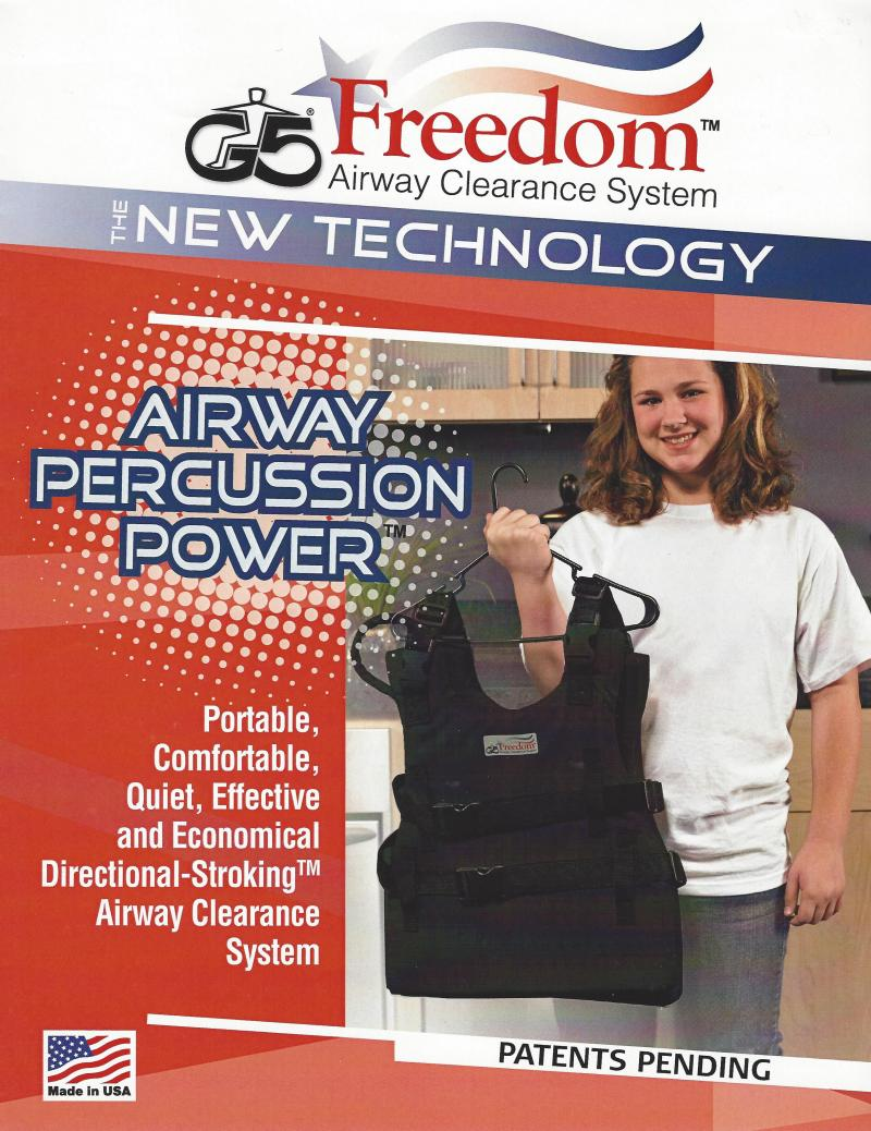 G5 Freedom Lightweight wearable vest airway clearance respiratory care